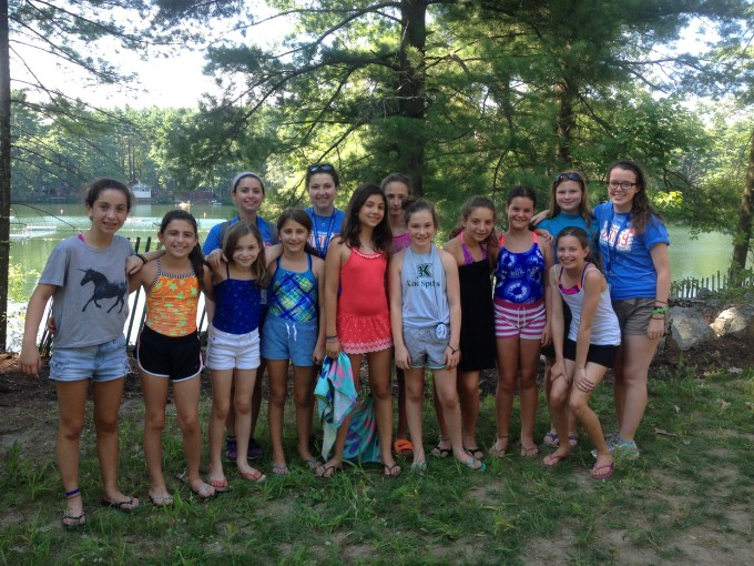 Tzrif 25 banot (girls) are all smiles on the first day of camp!